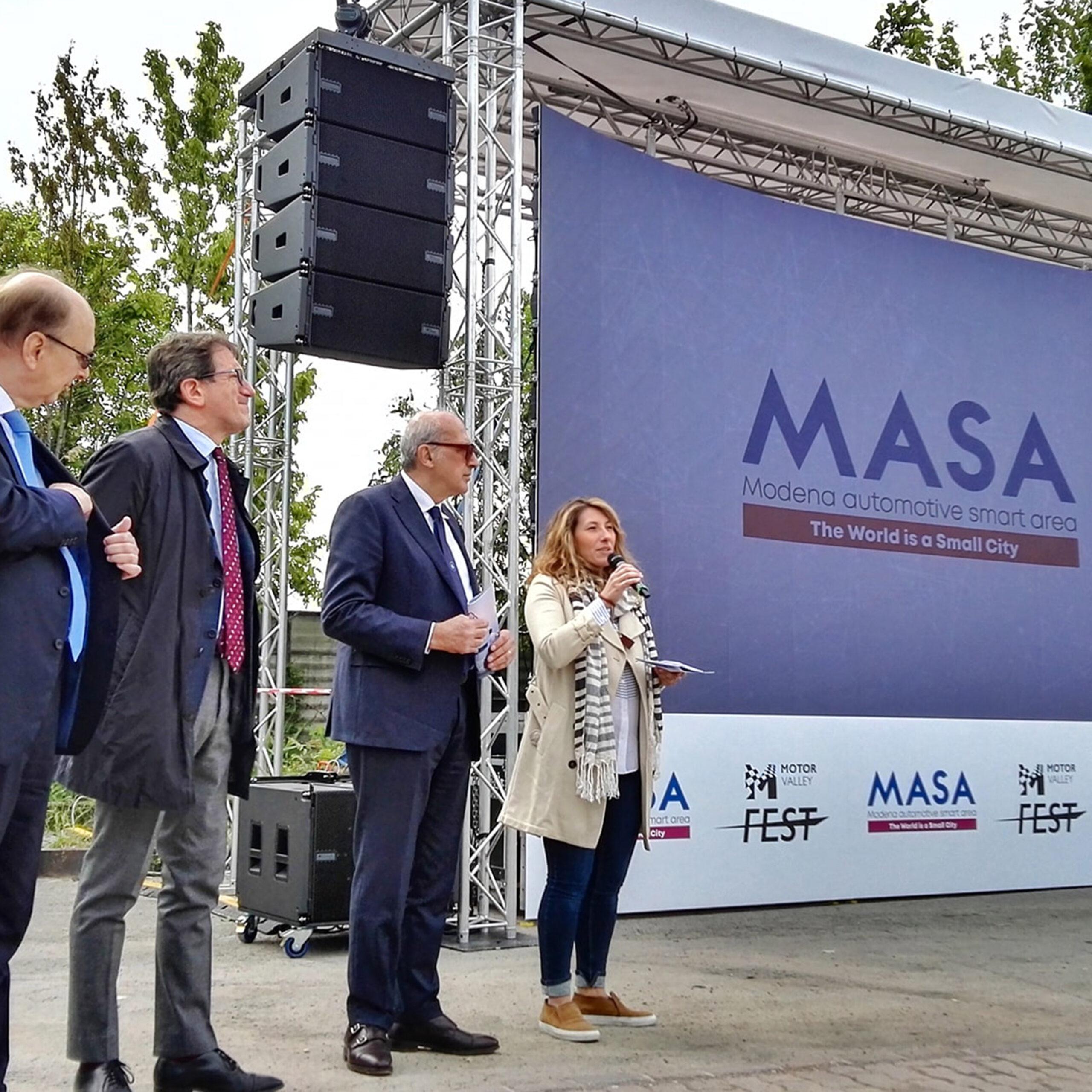 Presentazione Masa Day digital con il sindaco di Modena Muzzarelli e assessore Ferrari