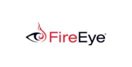 logo fireeye rosso e nero